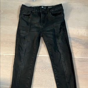 Black ankle skinny jeans from 7 for all mankind
